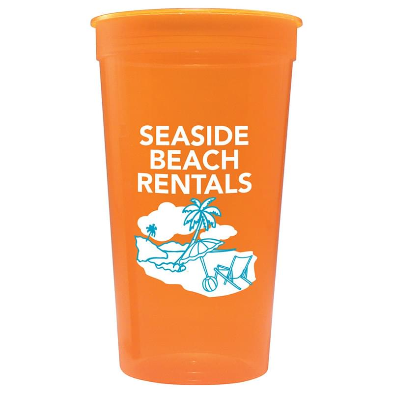 Jewel Translucent  32oz Stadium Cup