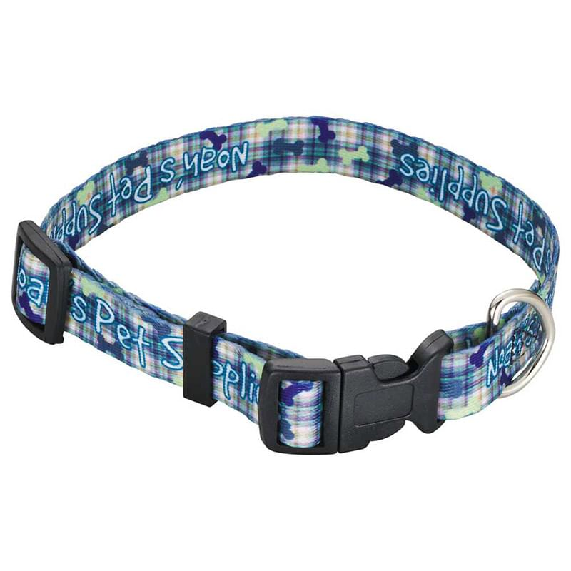 "Full Color 3/4"" Wide Pet Collar"