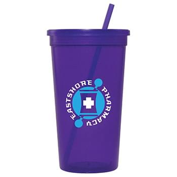Jewel 32oz Tumbler w/ Lid & Straw