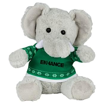 "6"" Ugly Sweater Plush Elephant"