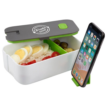 2 Compartment Bento Box with Phone Stand