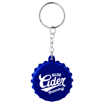 Beer Cap Keychain with Bottle Opener