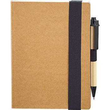 "5.5""x 7"" Eco Perfect Bound Notebk w/ Pen"
