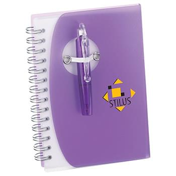 "4"" x 5.5"" Tribune Spiral Notebook w/ Pen"