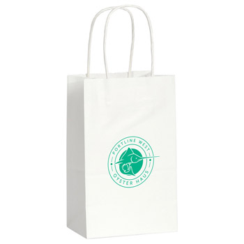 Kraft Paper Mini Gift Bag White