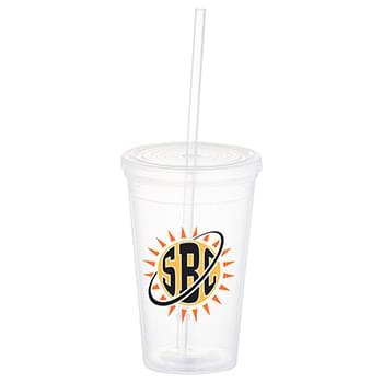 Iceberg 16-oz. Tumbler with Straw