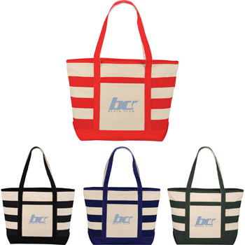 10oz. Zippered Stripe Tote