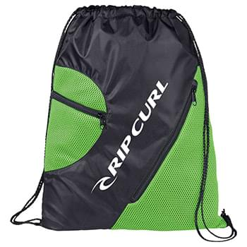 Zippered Mesh Drawstring Sportspack
