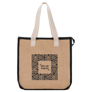 Jute Insulated Grocery Tote