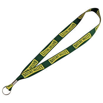 "Full Color 1"" Lanyard w/ Ring"