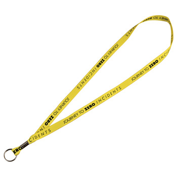 "Full Color 1/2"" Premium Lanyard w/ Ring"