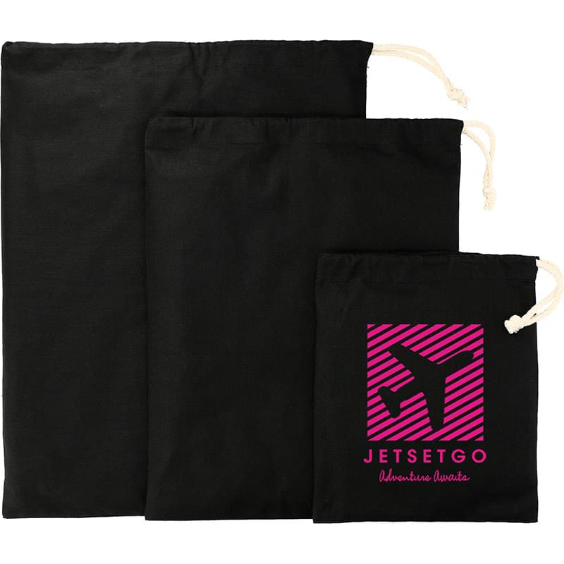 5oz. Cotton 3pc Travel Pouches